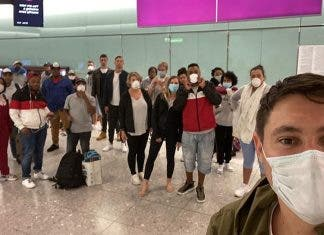 south africans stuck heathrow airport