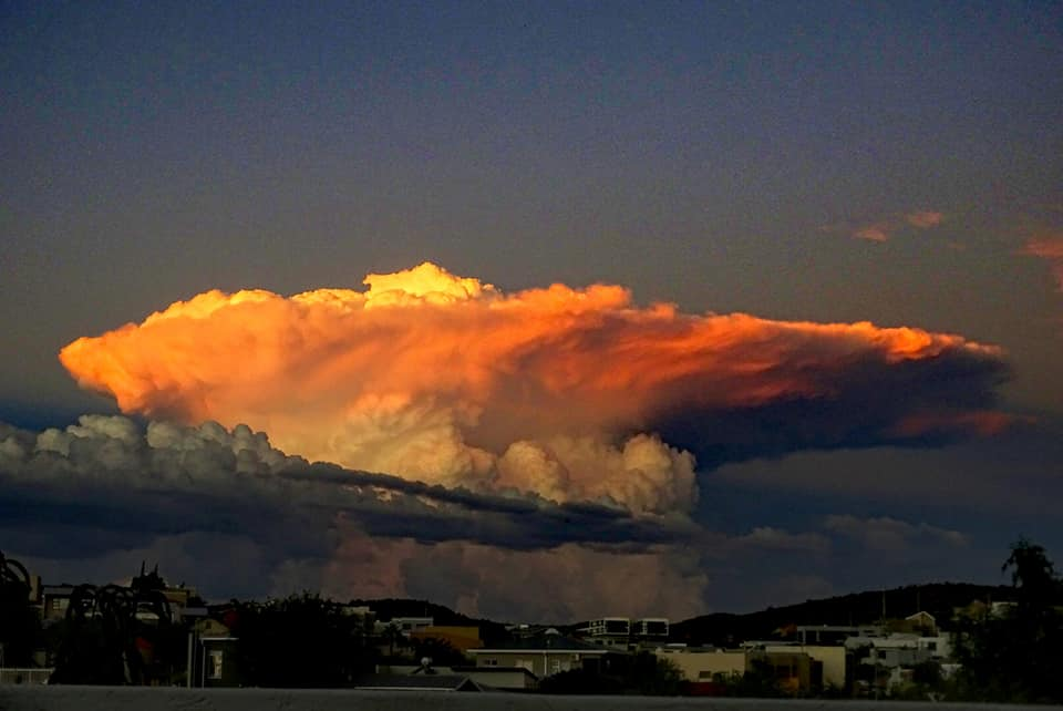 Clouds building up over Windhoek