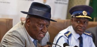 south african police minister bheki cele looting liquor stores