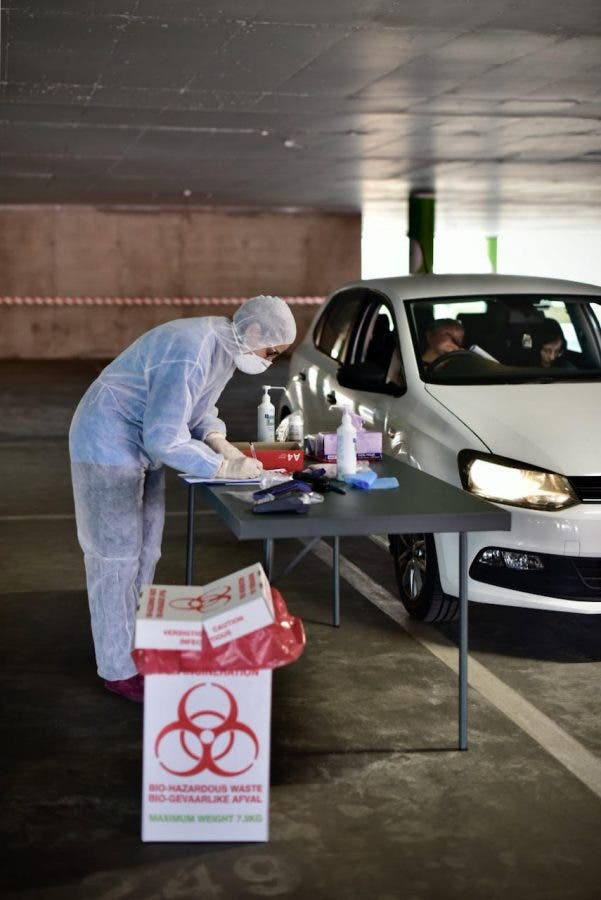 dischem drive through covid coronavirus test south africa