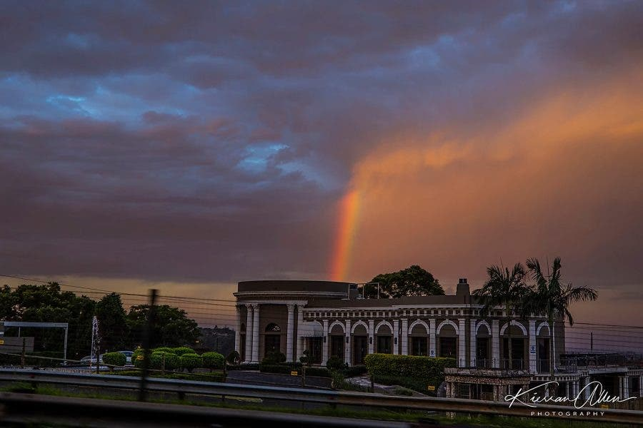 durban easter sunday lockdown rainbow