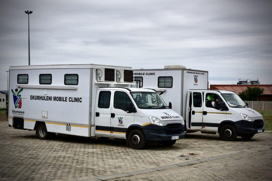 Mobile Clinics deployed following the closure of the Duduza Clinic.