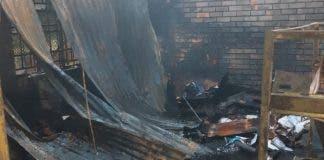 school burned south africa lockdown