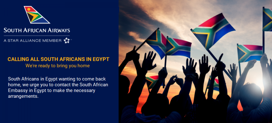 south africans in egypt repatriation