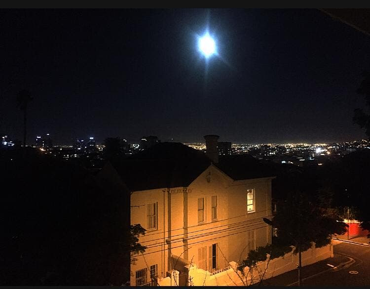 Supermoon shining brightly in Cape Town tonight