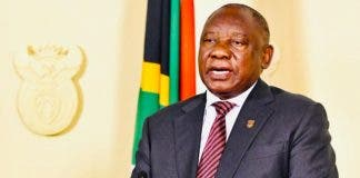 president cyril rampahosa pay cut salary
