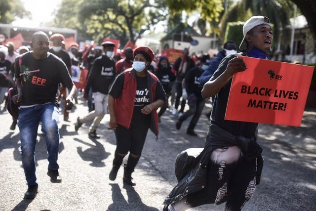 eff protest us embassy south africa