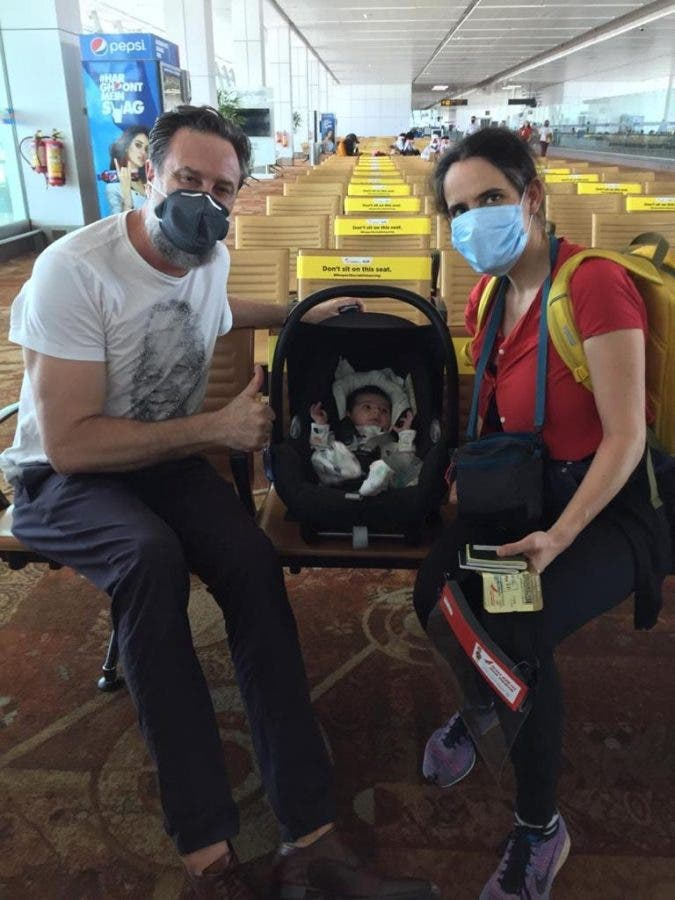 A couple with a one-month-old baby have been repatriated from India to South Africa. Photo: Tom Brown