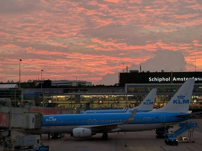 schiphol-airport south africans stranded pix