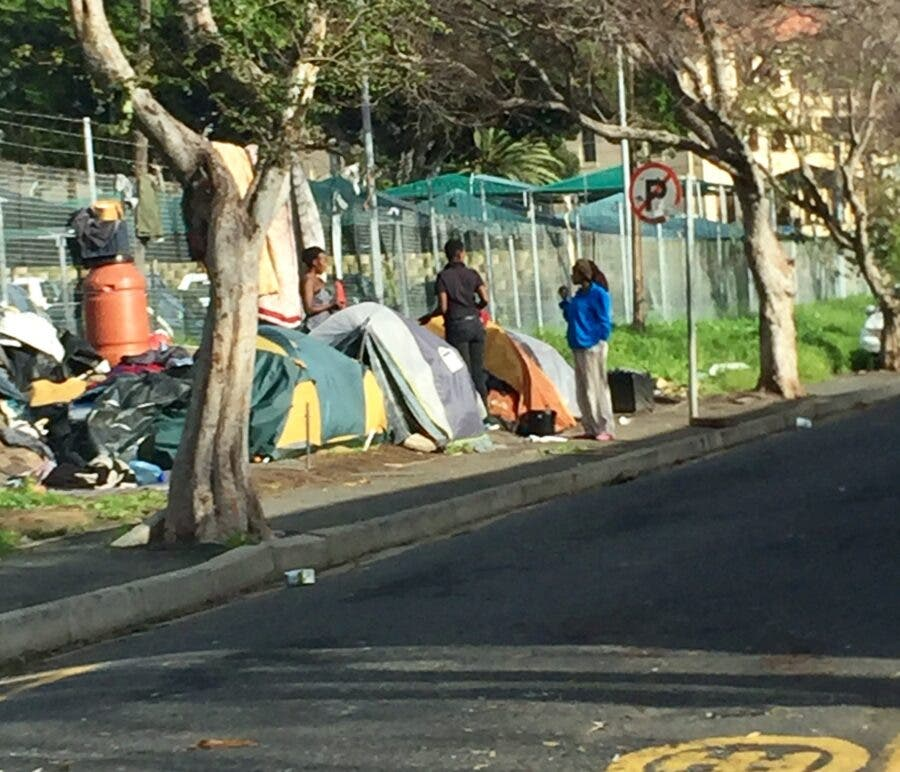 cape town homeless street people