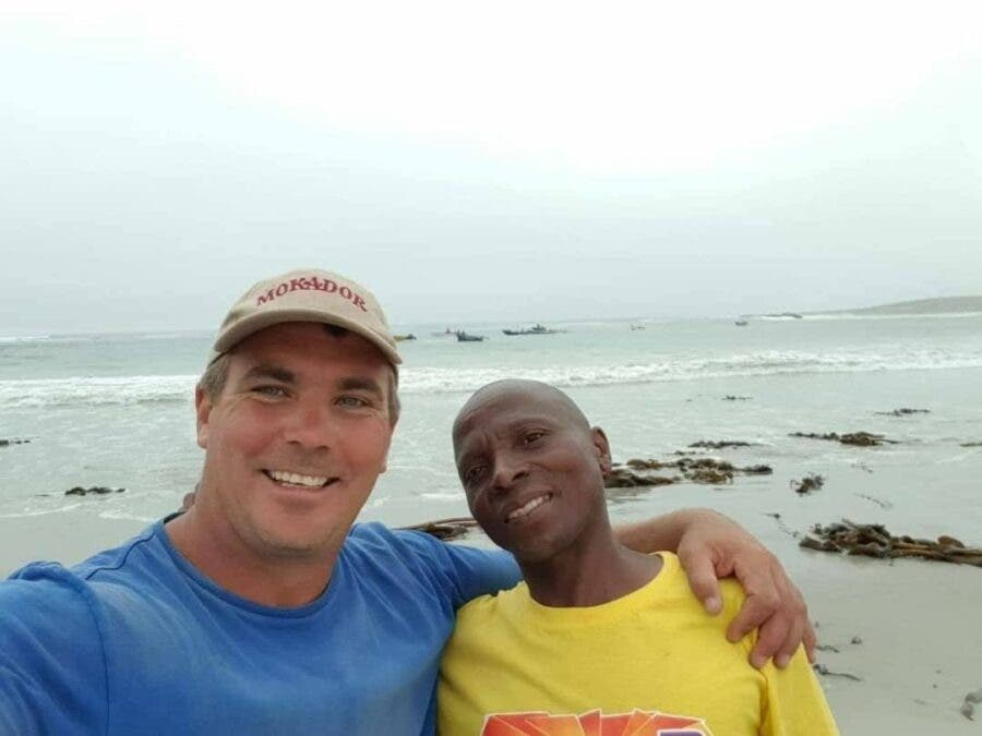 aaron driver visits sea first time namaqualand