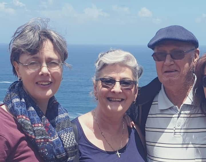 Murdered farm couple Danie Brand, 83, (right) and wife Breggie, 73, (centre) and daughter Elzabie, 54, who was also kidnapped along with her parents and killed while visiting them for the weekend at their farm in Hartswater, Northern Cape, South Africa.