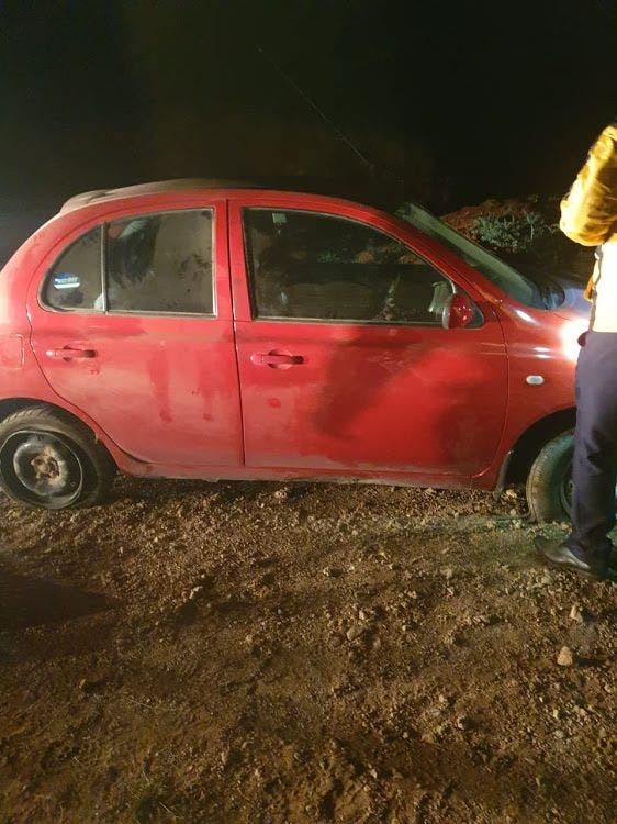 One of the two cars stolen from the Brand smallholding in Hartswater, South Africa, later recovered by the police