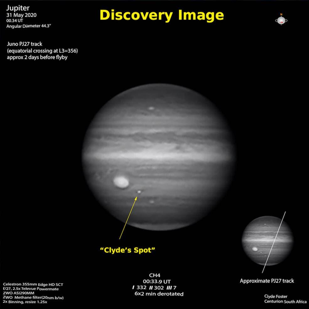 clyde's spot jupiter space