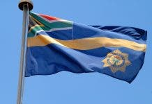 south african flag police