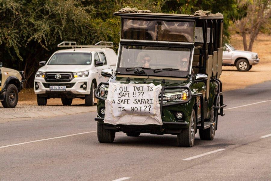 safari tourism peaceful protest