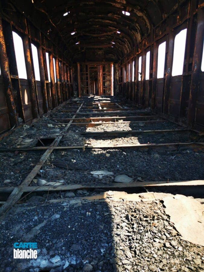 train looting copper cable theft