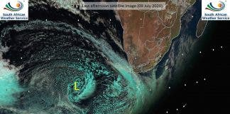 weather satellite image south africa cold front
