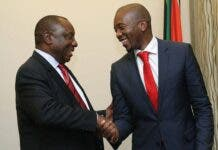 Cyril Ramaphosa and Mmusi Maimane