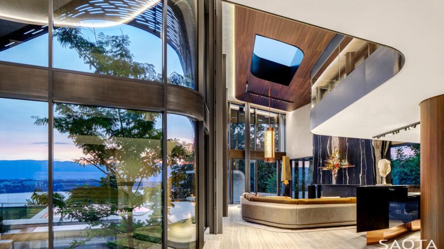 villa courbe architecture south africa switzerland real estate saota