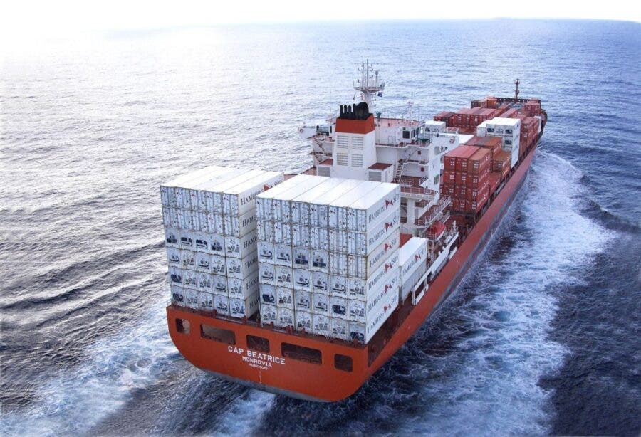 container ship wine south africa