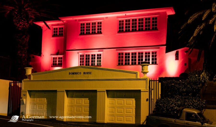 cape town house painted red lightsared