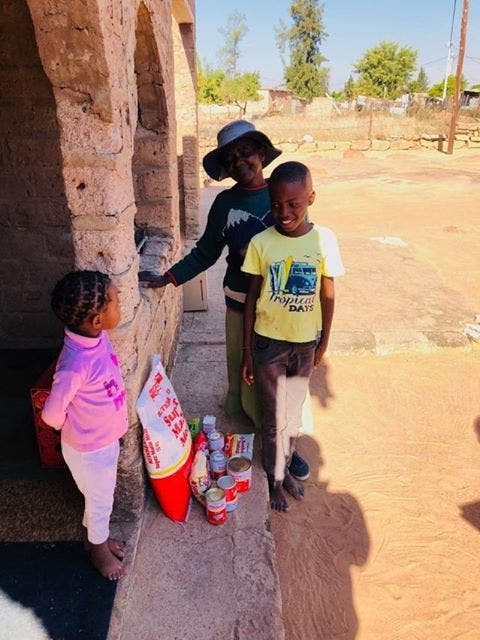 family helped children south africa