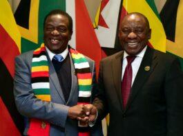 President Emmerson Mnangagwa Zimbabwe, President Cyril Ramaphiosa South Africa