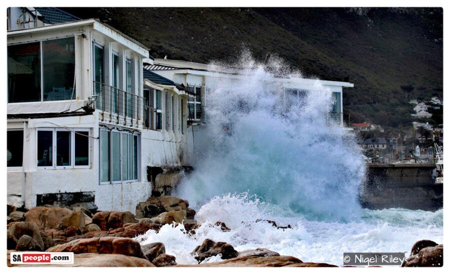 massive waves kalk bay harbour house restaurant