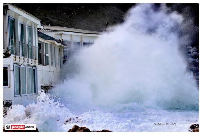 huge waves kalk bay harbour house restaurant