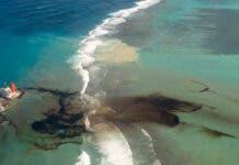 MV Wakashio, a Japanese owned Panama-flagged bulk carrier ship leaks oil after drifting ashore over coral reefs. Etat-major des Armees/EPAhandout