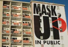 covid mask billboard cape town south africa
