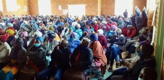 Villagers meet after three suspected criminals were killed by vigilantes in the Eastern Cape town of Cacadu. Photo: Nombulelo Damba-Hendrik