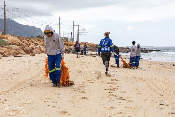 Ghost Fishing Gear Removed from Fishermen's Beach Near Simonstown