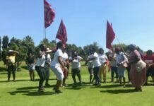 Housing activists protest on to the green at Rondebosch Golf Club earlier this year. Archive photo: Tariro Washinyira
