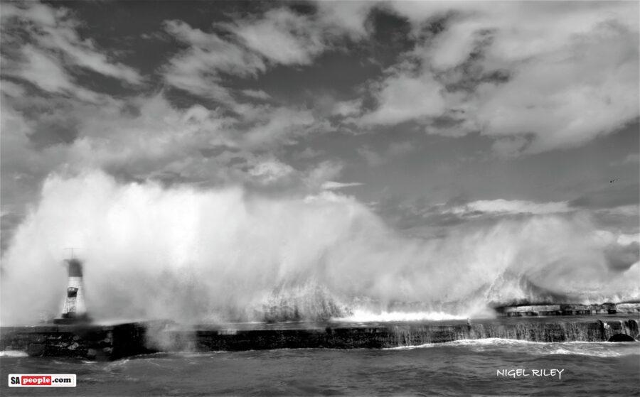 kalk bay harbour monster waves
