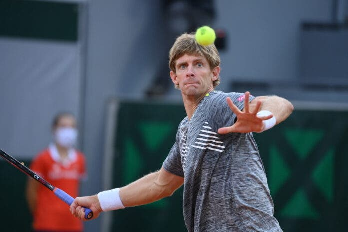 Kevin Anderson at the French Open earlier this week. Photo: Rolan Garros