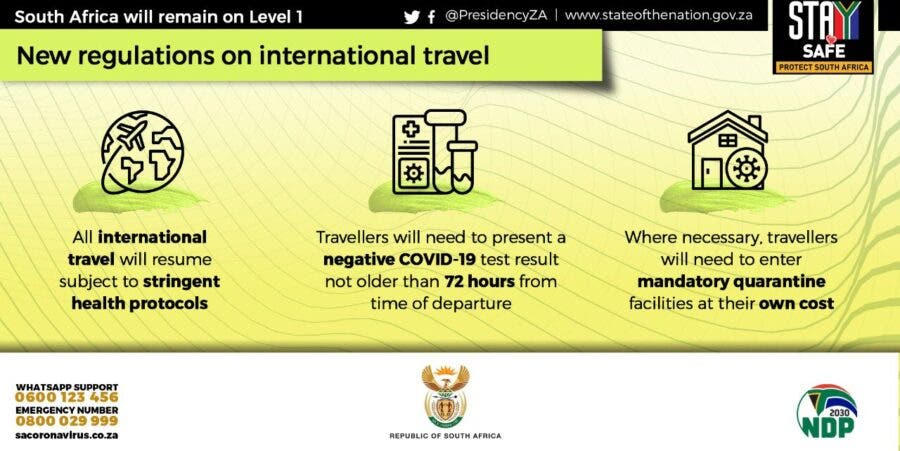 International travel with south africa