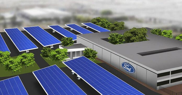 ford south africa solar energy project