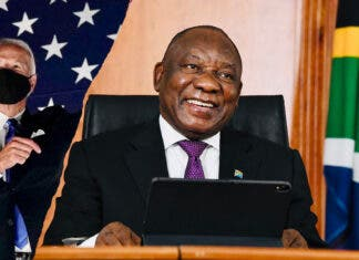 ramaphoa telehone call joe biden south african president and us president-elect