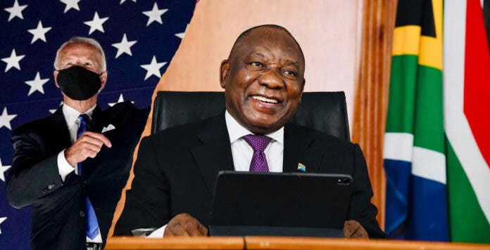 ramaphoa telehone call joe biden south african president and us president-elect
