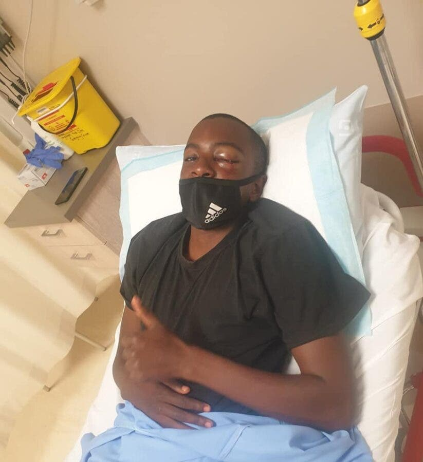 Themba was attacked on his way to football practise, but his dreams are in tact