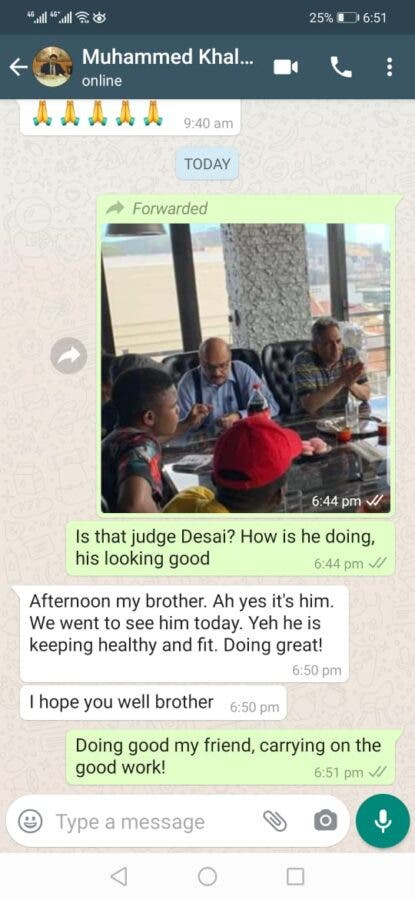 Judge Desai lunch anc