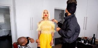 Kelly Khumalo on set on Showmax Original reality show Life with Kelly Khumalo