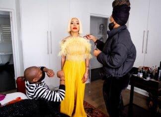 Kelly Khumalo on set on Showmax Original reality show Life with Kelly Khumalo