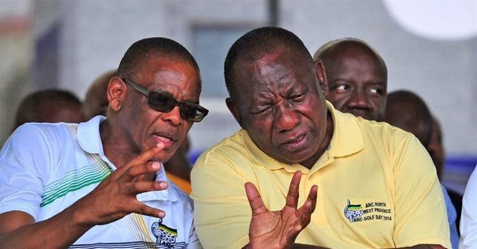 ace magashule and cyril ramaphosa