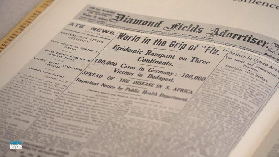 carte blanche spanish flu newspaper