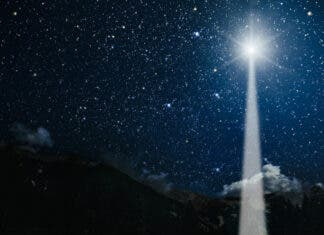 Christmas Star of Bethlehem Jupiter and Saturn