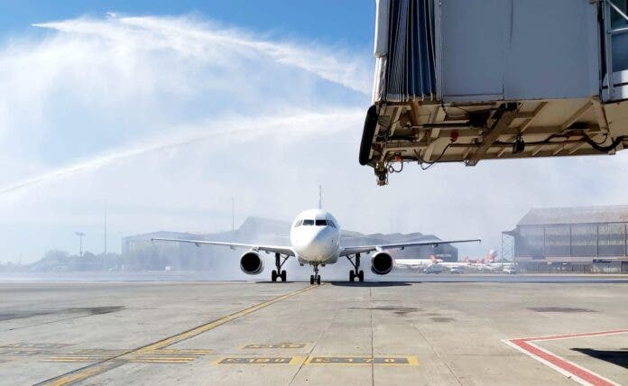 lift airline water spray welcome