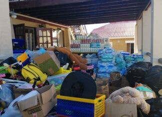 masiphumelele fire volunteers donate at Living Hope centre
